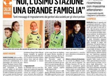 La nostra grande famiglia biancoverde è finita sul Corriere Adriatico!